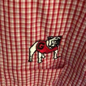 Antigua Shirts - Men's UGA button down shirt